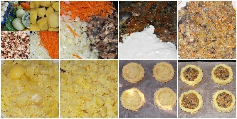 Гнезда картофеля рецепт фото