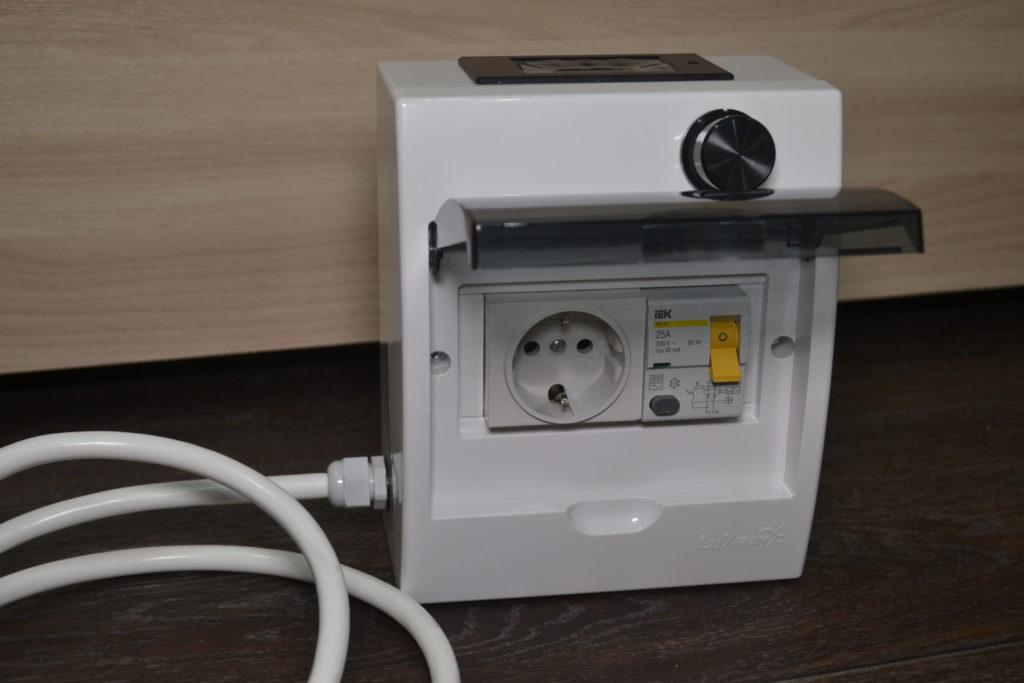 Регулятор мощности для ТЭНа до 3,5 кВт с УЗО