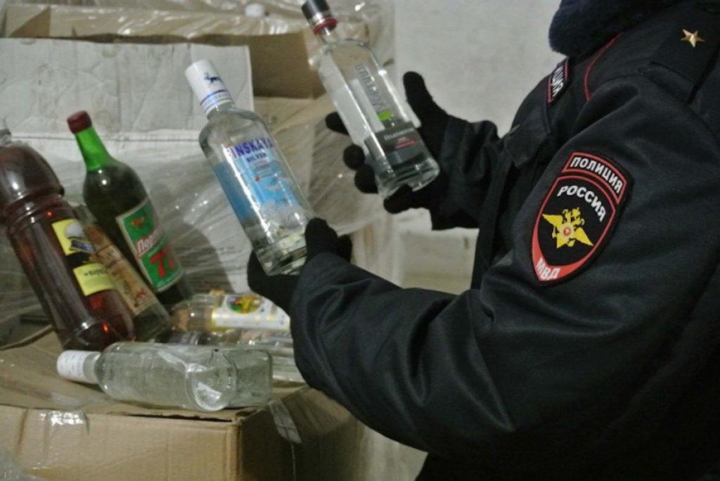 Конфискат алкоголя в Новосибирске