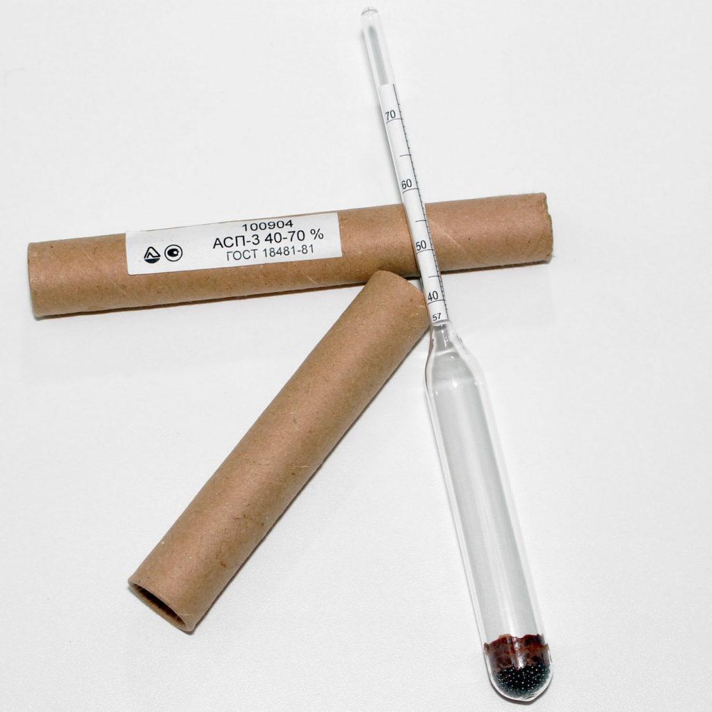 Спиртомер (ареометр) лабораторный АСП-3 (40-70%)