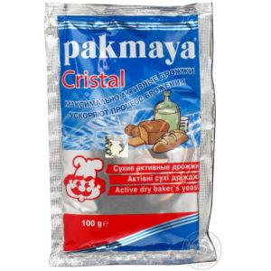 Сухие максимально активные дрожжи «Pakmaya» Cristal для напитков и выпечки