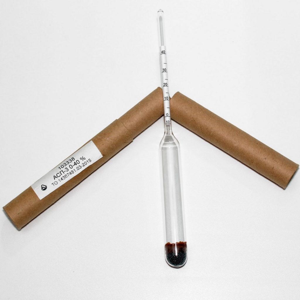 Спиртомер (ареометр) лабораторный АСП-3 (0-40%)